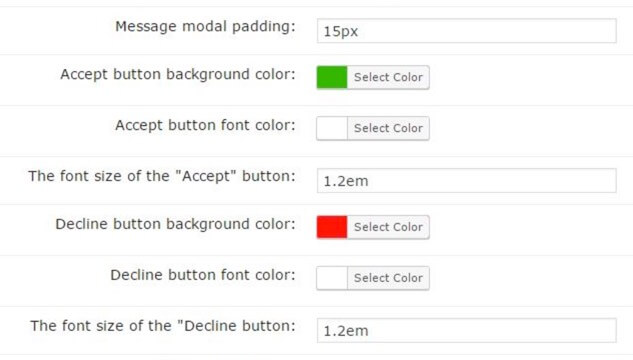 Color Selection Settings